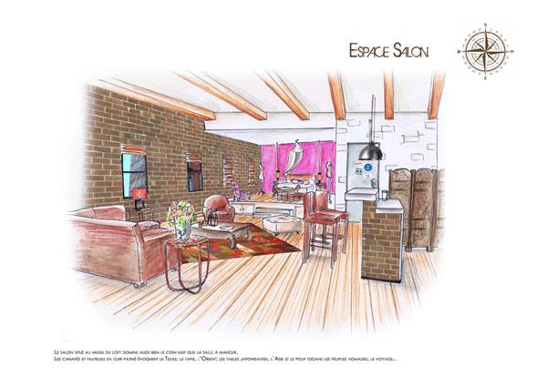 Architecture et d coration d int rieur for Interieur new yorkais